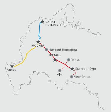 Проекты ВСМ в России